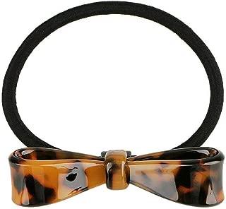MOPOLIS Girls Bowknot Leopard Print Elastic Hair Ring Band Ties Pony Holder Accessories | Color - Dark Brown