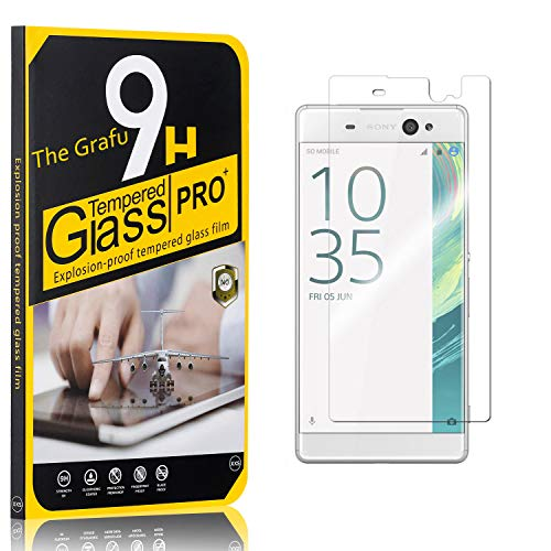 Purchase The Grafu Screen Protector for Sony Xperia XA Ultra, Bubble Free, 9H Scratch Resistant Temp...
