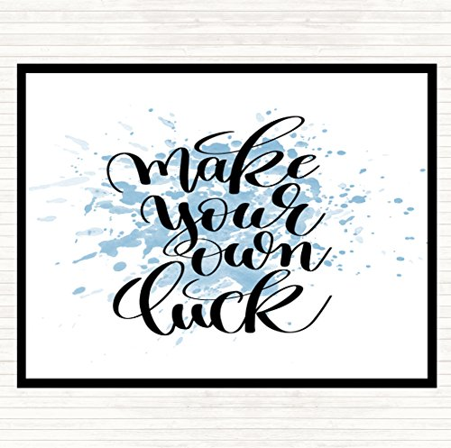 Maak je eigen geluk inspirerende citaat muismat pad