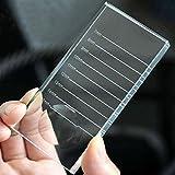 2en 1de pestañas Extensiones de pestañas falsas las pestañas pegamento Pallet Soporte para de cristal separador paletas paleta de cristal, 10cm x 5cm x 1cm