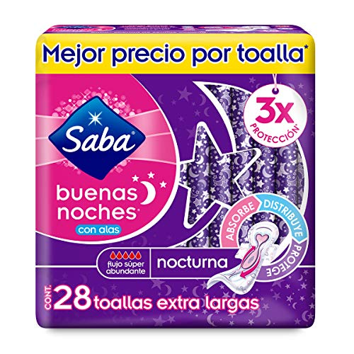 Toallas Femeninas Saba marca SABA