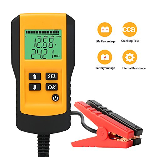 SUNER POWER Digital 12V Car Battery Tester Automotive Battery Load Tester and Analyzer of Battery...