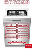 Amica Einbau Geschirrspüler 45cm unterbaubar, Aqua Stopp, 10 Maßgedecke EGSPU 500 910 E