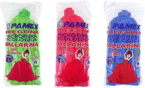 PAMEX - Fregona Microfibra Ballarina Tricolor - Caja de 24 U