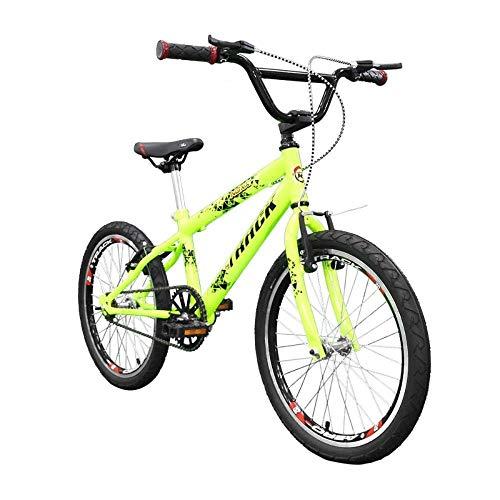 Bicicleta Aro 20 Noxx Amarela Neon Rodas Aero Cross BMX, Track Bikes