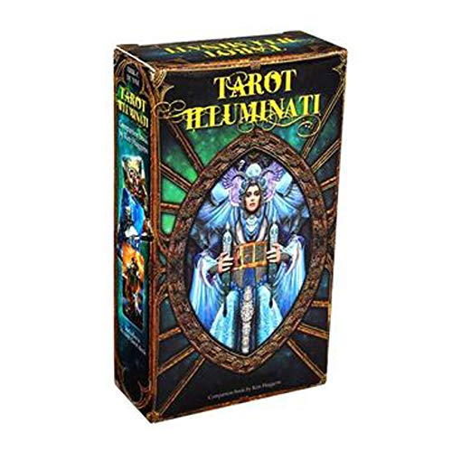 JUYHTY Juego De 78 Piezas Tarot Illuminati Baraja De Cartas Oracle para Principiantes (Inglés) Juego De Niños,1 Box