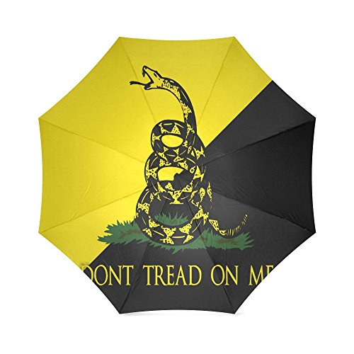 Best Friends/Sisters/Brothers Gifts Presents Don't Tread On Me Flag Compact Foldable Rainproof Windproof Travel Umbrella