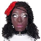 CUSHION Realistische weibliche Kopfmaske weiches Silikon-Handgemachte Gesicht für DWT Transgender Königin Halloween Kostüme Rollenspiele Make-up-Party