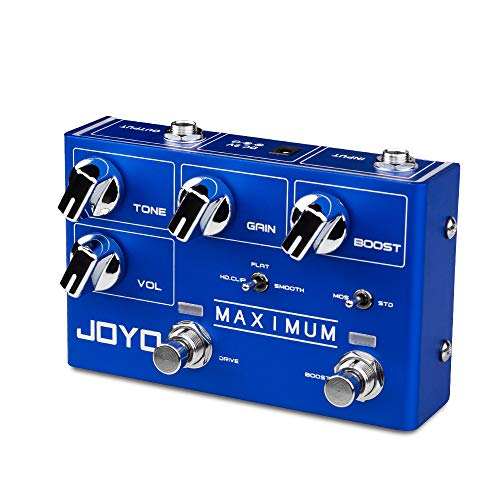JOYO Maximum R-05 R Series Overdrive Dual Channel Pedal Clean Overdrive Tone and Wild Overdrive Effect for Electric Guitar (R-05)