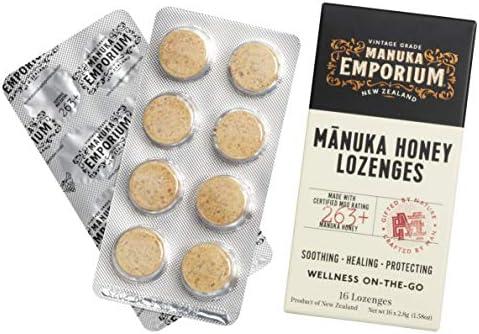Manuka Emporium Wellness On The Go Raw Manuka Honey Lozenges MGO263 UMF 10 16 x 1 58oz Lozenges product image