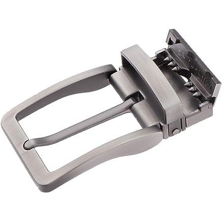 F Fityle Men Metal Reversible Belt Buckle Replacement Antique Rectangular Pin Buckle