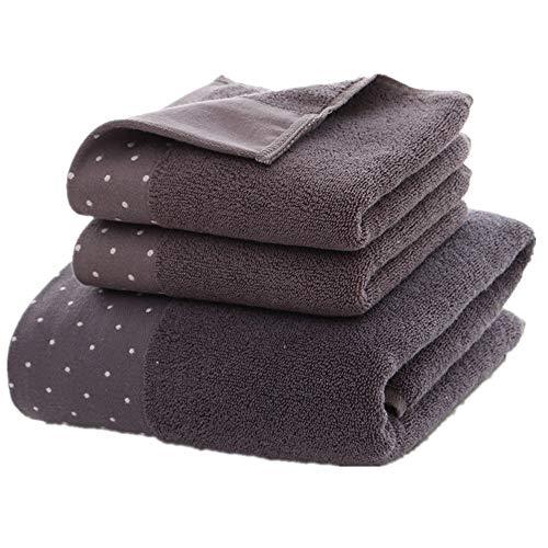 Qurong romper voor volwassenen, zacht, absorberend, katoen, handdoek, set voor gezichtsreiniging