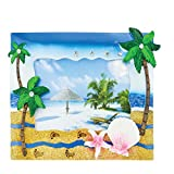 Rockin Gear Picture Frame - Palm Trees Neon Beach Sand and Shells Tropical Picture Wall and Table Top Photo Picture Frame - Holds a 4' x 6' Print (Blue)