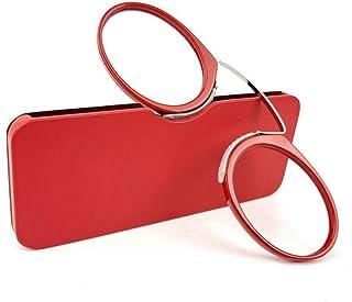 MTYJ Clip Neus Mini leesbril Mannen Vrouwen Lezers Brillen Brillen -7.25 (Frame Color : 03, Size : +150)