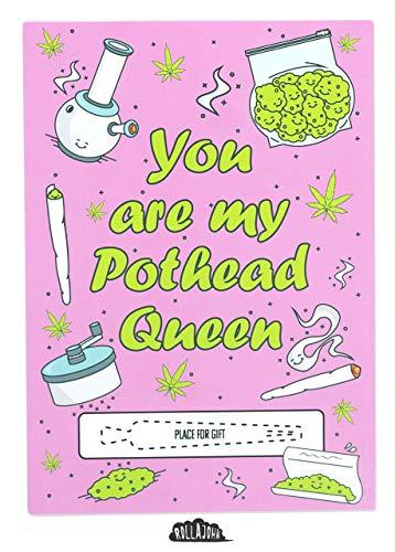 RollaJohn: Spliffcard - sieben Designs, Geschenkgutschein für besondere Anlässe, geben Sie Ihrem besten freund auf jeder Party einen Joint! (Pothead Queen)