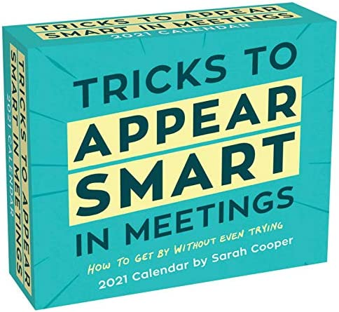 Tricks to Appear Smart in Meetings 2021 Day to Day Calendar product image