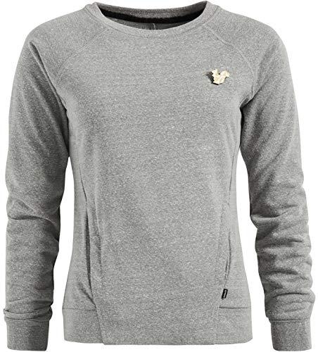 khujo Damen Sweatshirt SUNTI weicher, sportlicher Basic Pullover mit Eingrifftaschen
