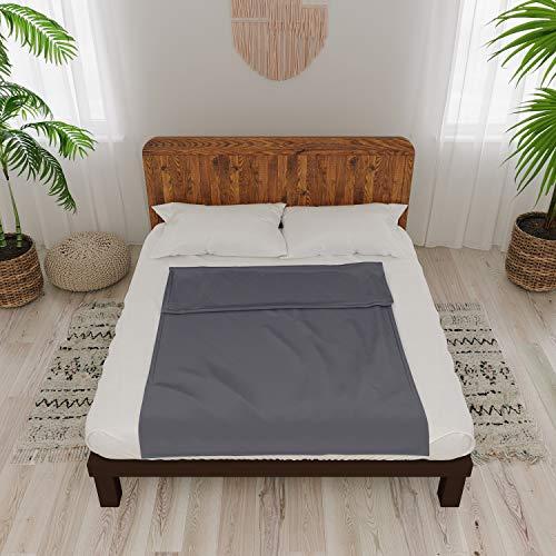 Dreamzie - Funda para Manta Pesada 160x200 cm Algodón - Oeko-Tex® - 8 Sujeciones y Cierre de Cremallera - Facilita la Limpieza de Tus Mantas Ponderadas