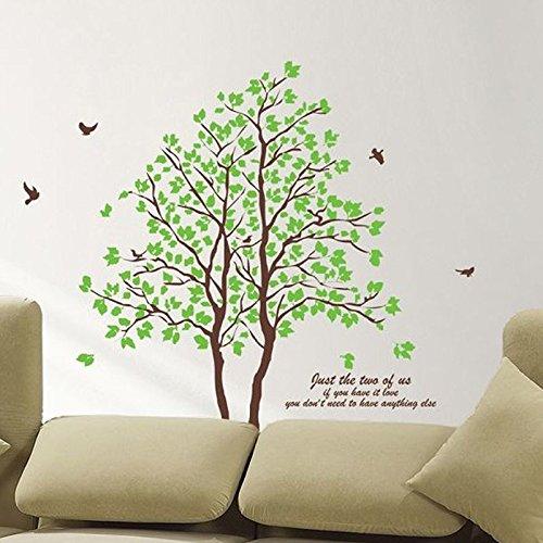 Pegatinas De Pared 3D Tridimensional Pareja Autoadhesiva Árbol Grande Ecológico Extraíble Pegatinas De Pared Sofá Fondo Sala De Estar Dormitorio Decoración -60X90Cm