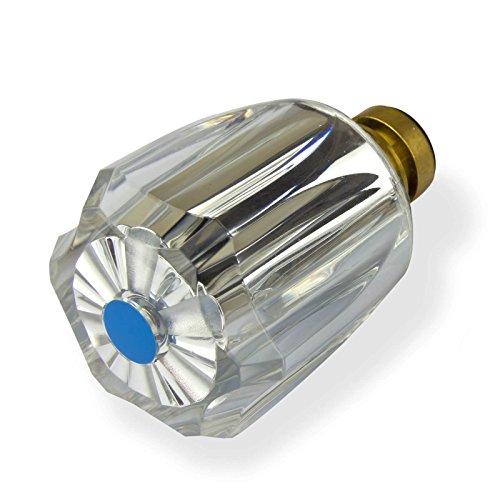 Stabilo-Sanitaer Hahnoberteil 1/2 Zoll blau Ventil Ventileinsatz Oberteil Messing Kaltwasser mit Acryl-Griff Ersatzteil Armatur Wasserhahn