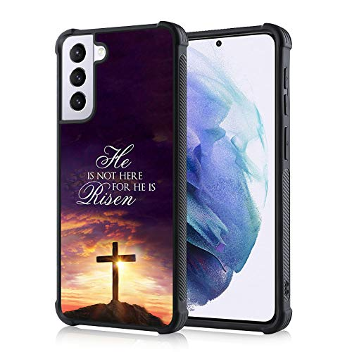 TEAUGHT Compatible with Samsung Galaxy S21 5G Case Jesus Bible Cross Christian Cover Slim Drop Protective Anti-Slip Shell Soft TPU Phone Case for Samsung Galaxy S21 5G 6.2 Inch (2021)