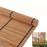 LDGS&TTW Persianas de Rodillos Retro Bambú Roll Up Window Persianas Persianas Persianas de privacidad Transpirable Persianas de Rodillo para Interiores/al Aire Libre Tonos Romanos Personalizables