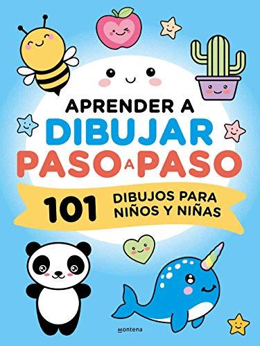Aprender a dibujar paso a paso: Juego de verano para niños y niñas. 101 dibujos. Libro de dibujo fácil y cuaderno actividades para toda la familia (Montena)
