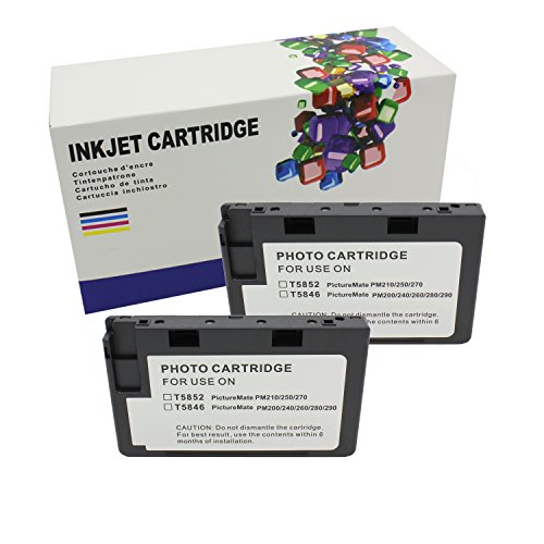 Hi Ink 2Packs T5846 for use of PictureMate Dash - PM 260, PictureMate Flash - PM 280, PictureMate Pal - PM 200,PictureMate Snap - PM 240, PictureMate Zoom - PM 290