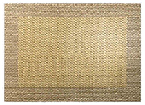 ASA Selection Set de table en PVC avec bord tissé Doré métallisé