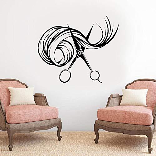 Haarschere Schönheitssalon Friseursalon Stylist Wandaufkleber Innenwanddekoration Friseursalon Fensterabziehbilder Wandbild A1 51x42cm