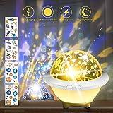 SPECOOL Projecteur Star Night Light pour enfants, Lampe blanc chaud, Espace, Thème Océan avec Fonction veilleuse, Cadeaux d'anniversaire de Noël pour chambre d'enfants Décorations de fête