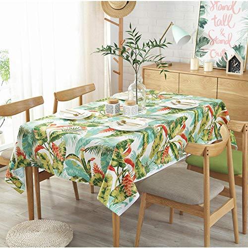 Dthlay tafelkleed, tuintafel, tafelkleed, afdekhanddoek, groene plant, zeildoek