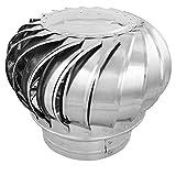 PrimeMatik - Sombrero Extractor de Humos galvanizado Giratorio para Tubo de 250 mm de diámetro