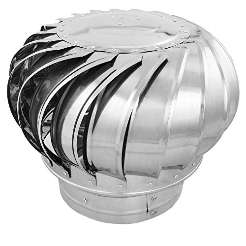 PrimeMatik - Roterende gegalvaniseerde afzuigkap voor buis met een diameter van 250 mm