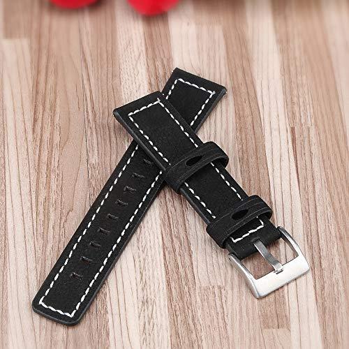Docooler Correa de Reloj de reemplazo de Cuero de 20 mm liberación rápida Banda de Reloj Inteligente para Hombres Mujeres Compatible con Hua-WEI Watch GT 2 42 mm/HO-Nor MagicWatch 2 42 mm