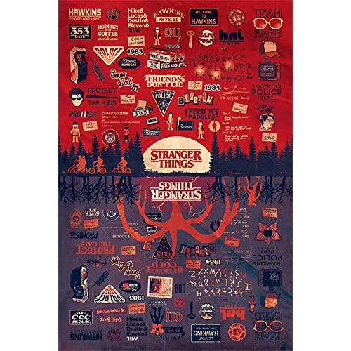 Poster Stranger Things The Upside Down, 91.5 x 61 x 0.03 cm