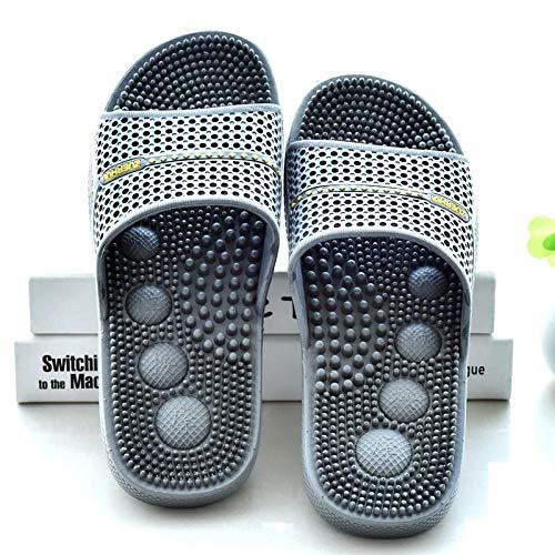 Nwarmsouth Massage Schuhe,Bequeme Massagesandalen, leichte Fußpflege, weiche Sandalen und Hausschuhe, grau, 42,Unisex-Erwachsene Slide Sandalen