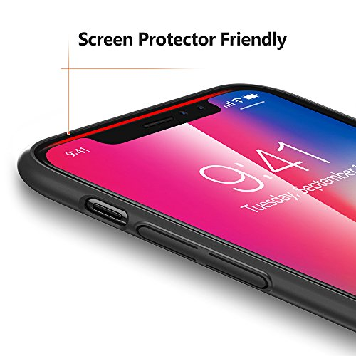 TORRAS Slim Fit iPhone Xs Case/iPhone X Case, Hard Plastic PC Super Thin Mobile Phone Cover Case with Matte Finish Coating Grip Compatible with iPhone X/iPhone Xs 5.8 inch, Black