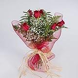 Ramo de 6 rosas rojas naturales FLORES FRESCAS-Entrega en 24 horas