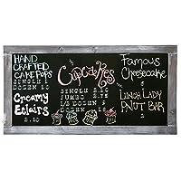 Vintage Gray Wooden Framed Hanging Chalkboard/Wall Mounted Message Board Sign [並行輸入品]