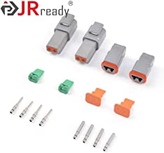 JRready DT Connector Kit ST6145 2 Pin Gray Waterproof Electrical Wire Connector with 16# Solid Contact,2 Sets
