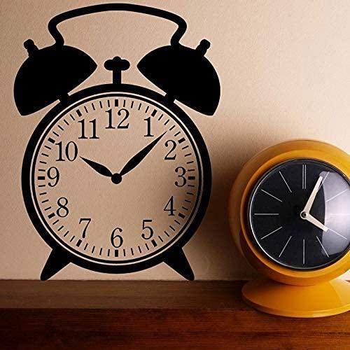 Reloj Despertador Vintage Con Diseño De Vinilo Adhesivo Para Reloj, Arte De Pared Para Niños, Dormitorio, Decoración Del Hogar, Artículos Para El Hogar 42X57Cm