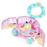 Maquillaje niños Kit de Maquillaje for niñas Conjunto de Juguete Real Girl Juego de imaginación Maquillaje Juguete for el niño Lavable Maquillaje Set Calabaza de Coches de Juguete, for el Chica Jugar