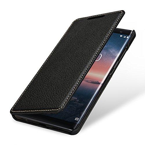 StilGut Book Type Hülle, Hülle Leder-Tasche kompatibel mit Nokia 8 Sirocco, Schwarz