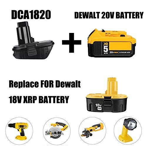 weqcter DCA1820 for Dewalt Battery Adapter for 18V Tools Compatible with 20V MAX XR Battery (2PACK)