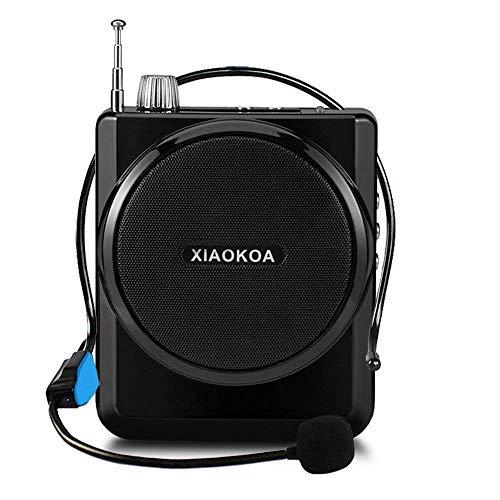 Xiaokoka Spraakversterker, microfoon, versterker, amplificador de voz estable con micrófono de auricular Sopoort, FM-radio, MP3-speler, Soport TF/SD-kaart, spraakversterker met microfoon