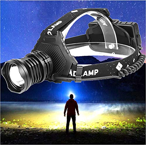 the most powerful XHP90 Led headlamp Headlight 32W zoom 18650 power bank flashlight head lamp