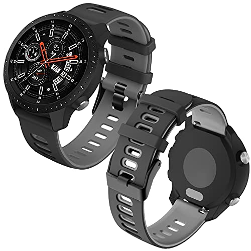 Th-some 22mm Cinturino di Ricambio per Samsung Galaxy Watch 3 45mm , Silicone Cinturino per Samsung Gear S3 Frontier/Gear Classic/Galaxy Watch 46mm/Huawei Watch GT 42mm 46mm/Watch Active GT2 46mm