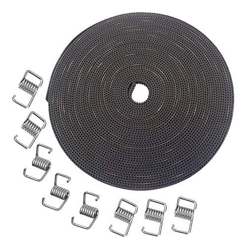 KeeYees 10M GT2 Zahnriemen 6mm Breite mit 8 stücke Spanner Torsionsfeder für 3D drucker RepRap