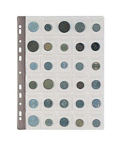 Favorit 100500067 Busta Porta Monete con 30 Tasche Formato 4X4,5 con Patella di Chiusura, Confezione da 10 Pz.